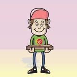 пицца мальчика Стоковое Изображение