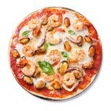 Пицца морепродуктов стоковое фото rf