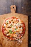 Пицца морепродуктов стоковые изображения
