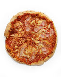 Пицца на белой предпосылке 3 Стоковое фото RF