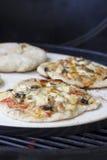 Пицца на камне гриля Стоковое фото RF