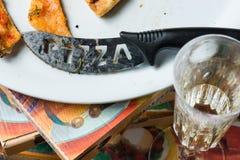 Пицца остатков Стоковая Фотография RF