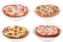 пицца покрывает различное Стоковая Фотография RF