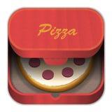 Пицца иконы Стоковое Изображение RF
