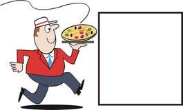 пицца поставки шаржа иллюстрация вектора