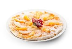 Пицца плодоовощ стоковая фотография rf