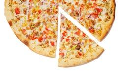 Пицца ранчо изолированная на белизне Стоковые Изображения