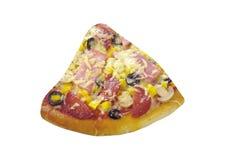 Пицца Свежая итальянка с салями стоковое фото