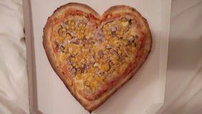 Пицца сердца Стоковые Фото