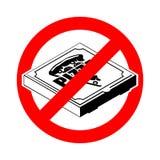 Пицца стопа Фаст-фуд красной дороги запрещая Коробка пиццы запрета иллюстрация штока