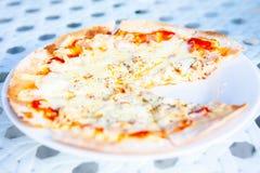 Пицца съела один кусок стоковая фотография