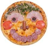 Пицца с ветчиной и оливками стоковая фотография rf