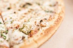 Пицца с замаринованными огурцами и ветчиной Стоковое фото RF