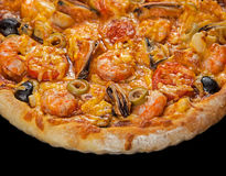 Пицца с морепродуктами Стоковое Фото