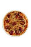 Пицца с сосиской и перцем Стоковые Фотографии RF