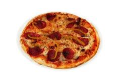 Пицца с сосиской Стоковое Изображение RF