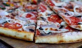 Пицца с сосиской Pepperoni Стоковые Изображения