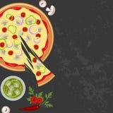 Пицца с стеклом соды бесплатная иллюстрация