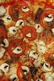 Пицца с текстурой грибов Стоковые Фото