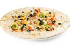 Пицца с цыпленком и перцами Стоковые Изображения