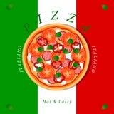 Пицца темы Стоковое Фото