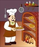 пицца цвета chef3 Стоковое Изображение RF