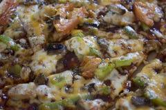 Пицца цыпленка барбекю Стоковая Фотография RF