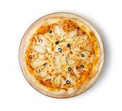 Пицца цыпленка BBQ с оливками Стоковое Изображение RF
