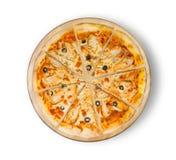 Пицца цыпленка BBQ с оливками Стоковые Изображения