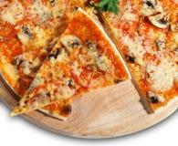 пицца части гриба Стоковое Фото