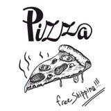 Пицца части душистая свеже подготовленная бесплатная иллюстрация