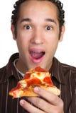 пицца человека Стоковые Фотографии RF