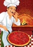 пицца шеф-повара Стоковая Фотография