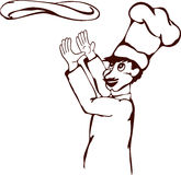 пицца шеф-повара Стоковое Изображение