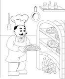 пицца chef3 Стоковые Фотографии RF