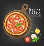 Пицца Margherita бесплатная иллюстрация