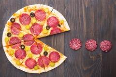 Пицца Pacman Стоковая Фотография RF