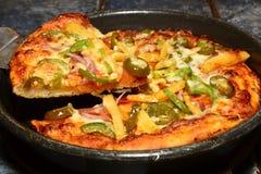Пицца Paneer индейца стоковая фотография