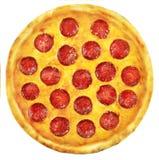 пицца pepperoni путя клиппирования изолированная изображением Стоковое Фото