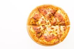 пицца pepperoni путя клиппирования изолированная изображением стоковые фото