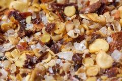 Пицца spices макрос крупного плана Стоковая Фотография