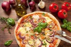 Пицца Veggie стоковые фотографии rf