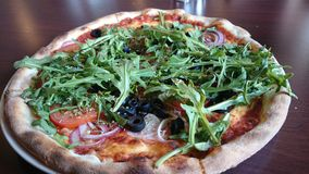 Пицца Veggie Стоковое Изображение RF