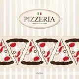 пиццерия меню Стоковое Изображение RF
