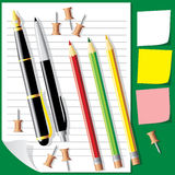 пишет pensil Иллюстрация вектора