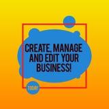Пишущ показывать примечания создайтесь для того чтобы управлять и редактировать вашим делом Дизайн фото дела showcasing начинает  бесплатная иллюстрация