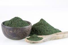 Пищевая добавка порошка Spirulina - сухое spirulina стоковое изображение rf