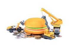 Пищевая промышленность и деньги Стоковые Изображения