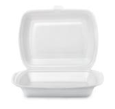 Пищевой контейнер пены стоковые изображения rf