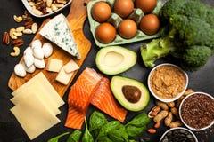Пищевые ингредиенты диеты Keto стоковое изображение